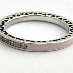 Radiant Hearts of PANDORA Ring Light Pink Sz 6.5